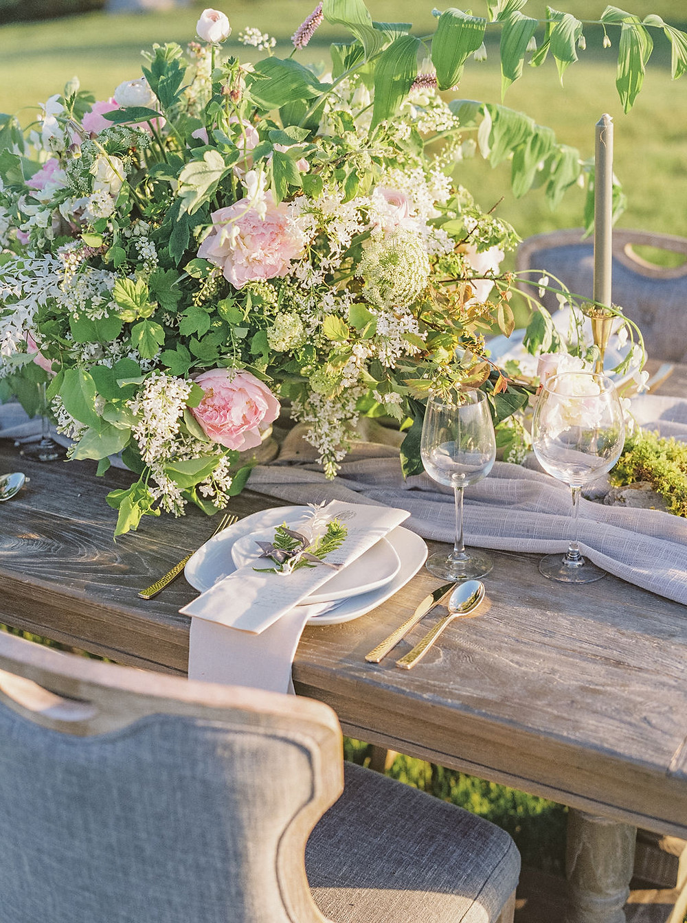 wedding table flowers details desgin