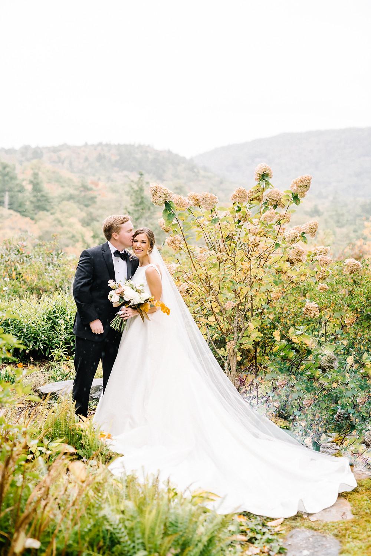 bride and groom highlands nc