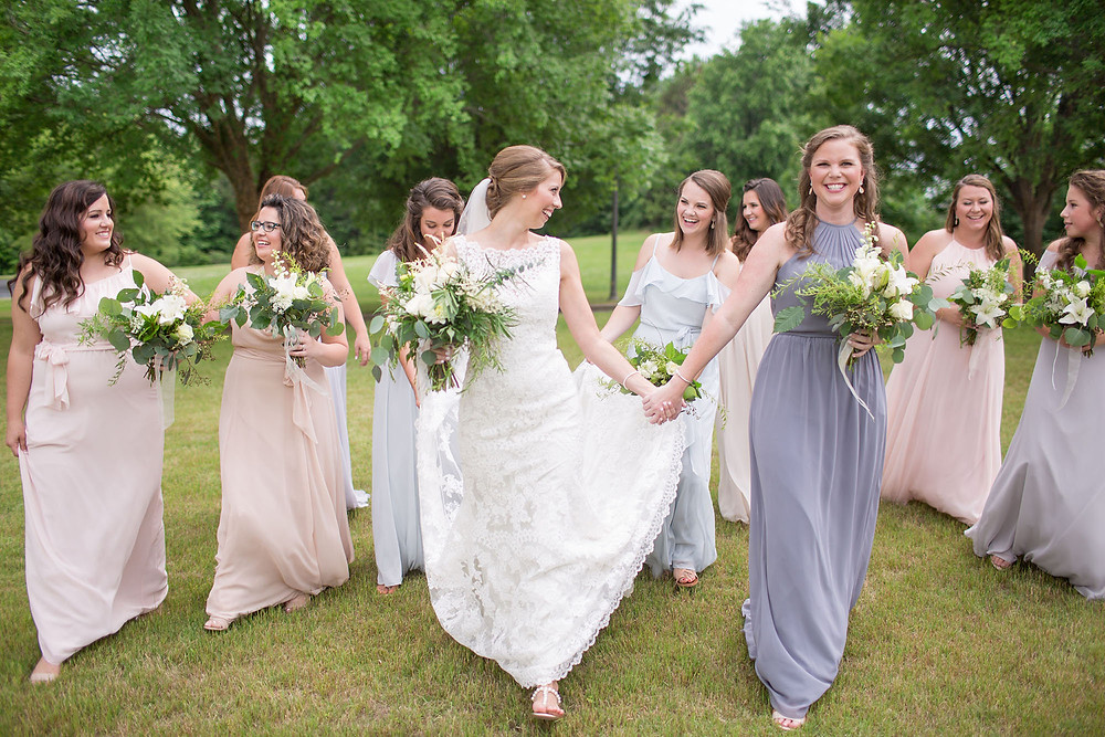 auburn al, bride, maids, wedding flowers,