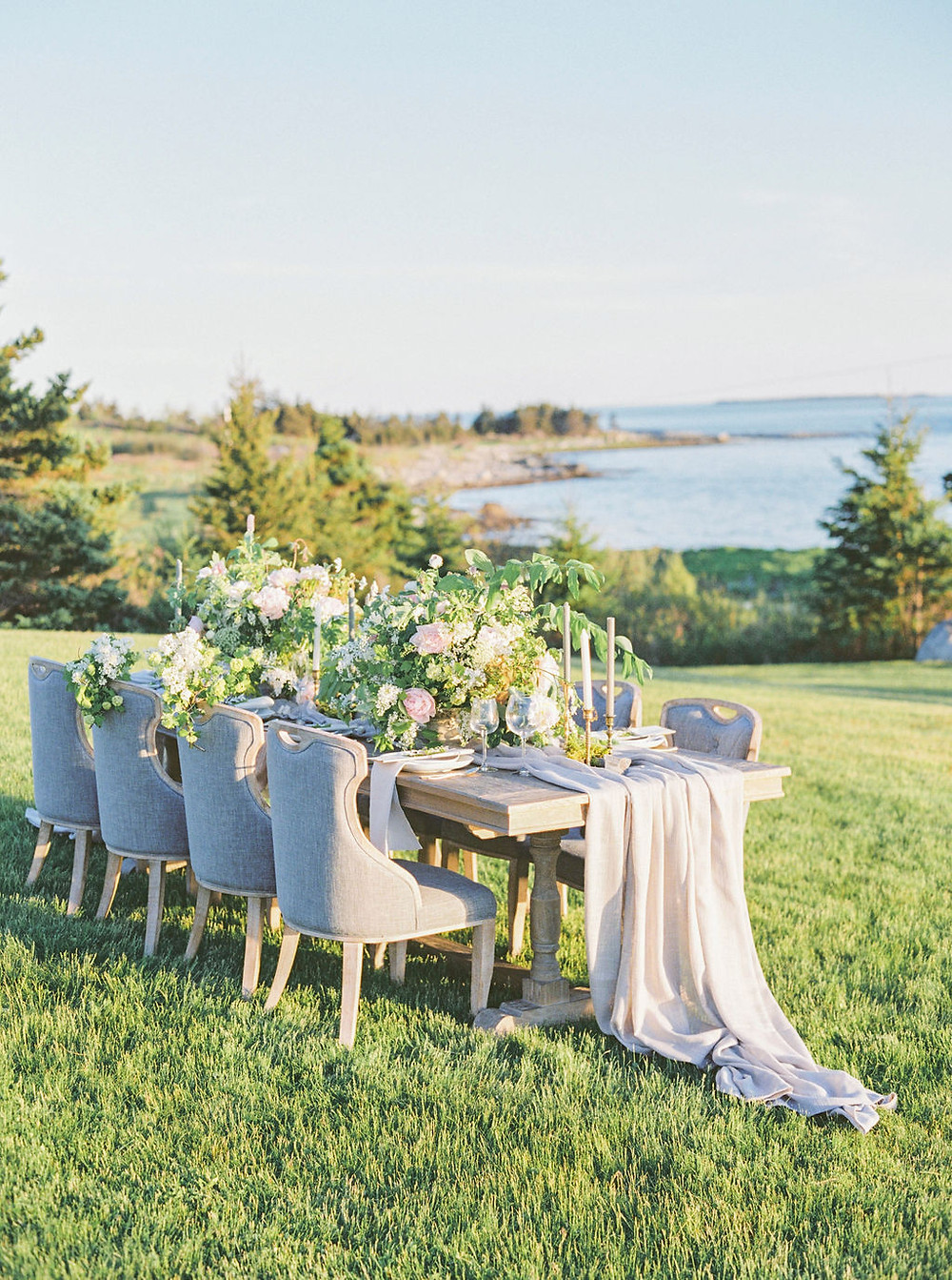 seaside wedding table desgin