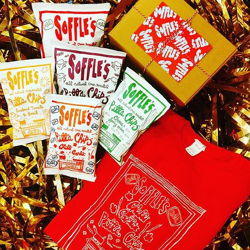 Soffle's Pitta Chip & Tee Combo Box