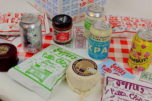 The Alternative Cheeseboard! Cheese, Pittachips, Chutney & Craft Beer Gift box!!
