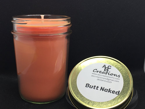 Butt Naked 8 oz Soy Candle