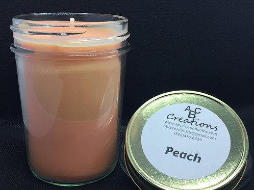 Peach 8 oz Soy Candle