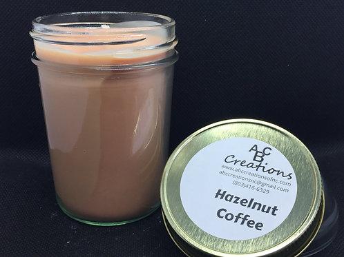 Hazelnut Coffee 8 oz Soy Candle