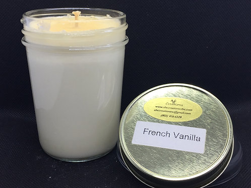 French Vanilla 8 oz Soy Candle