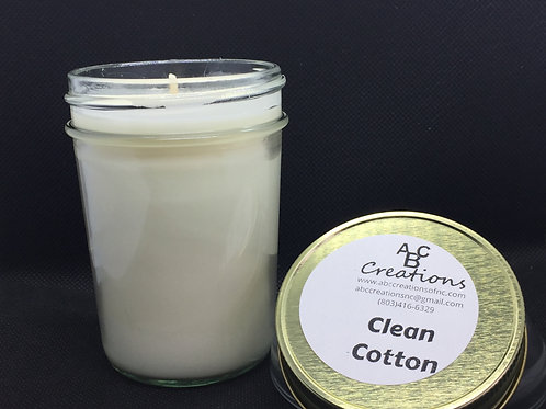 Clean Cotton 8 oz. Soy Candle