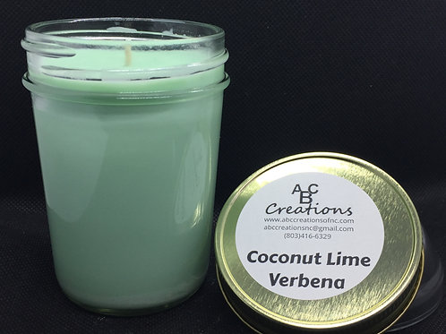 Coconut Lime Verbena 8 oz. Soy Candle