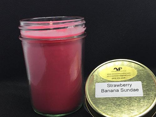 Strawberry Banana Sundae 8 oz. Soy Candle