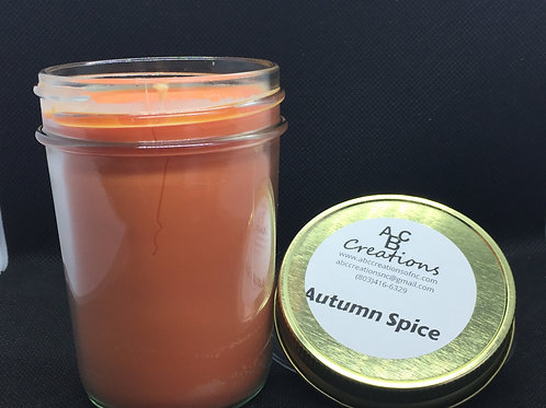 Autumn Spice 8 oz Soy Candle