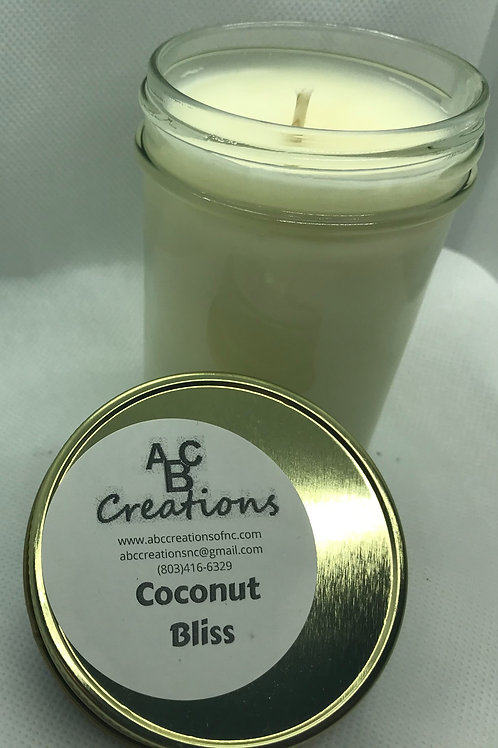 Coconut Bliss 8 oz. Soy Candle