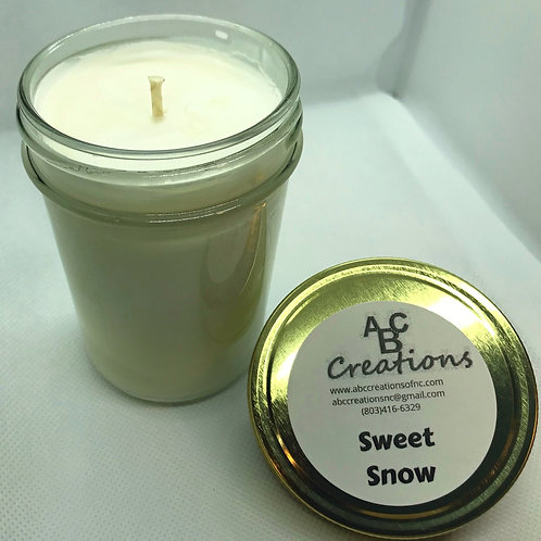 Sweet Snow 8 oz. Soy Candle