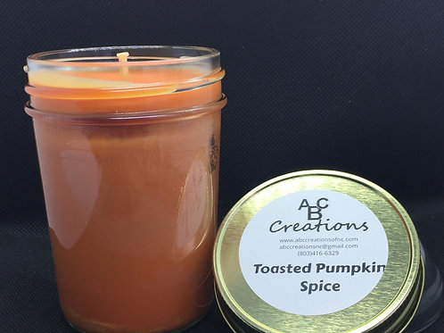 Toasted Pumpkin Spice 8 oz. Soy Candle