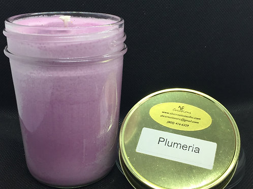 Plumeria 8 oz. Soy Candle