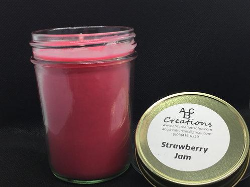 Strawberry Jam 8 oz. Soy Candle