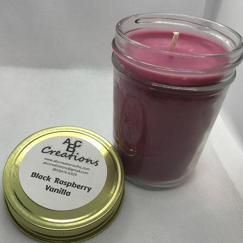 Black Raspberry Vanilla 8 oz. Soy Candle