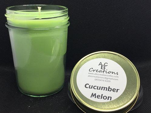 Cucumber Melon 8 oz Soy Candle