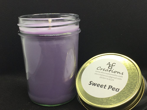 Sweet Pea 8 oz Soy Candle