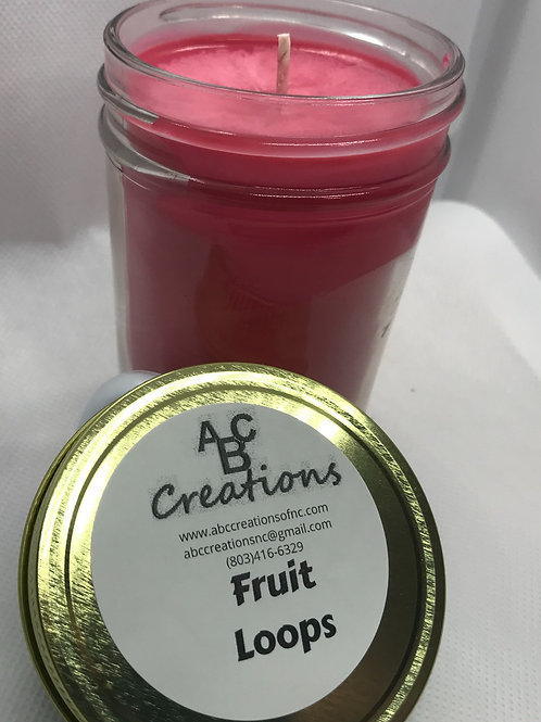 Fruit Loops 8 oz. Soy Candle