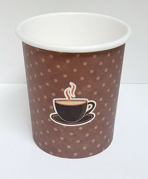 Copo de papel p/café 120ml decorado