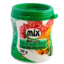 CORANTE 100G VERDE HORTELÃ MIX