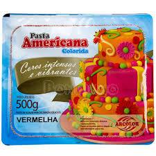 PASTA AMERICANA 500G VERMELHA ARCOLOR