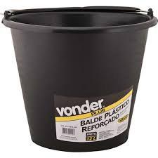 BALDE PLASTICO REFORÇADO 12L VONDER PLUS