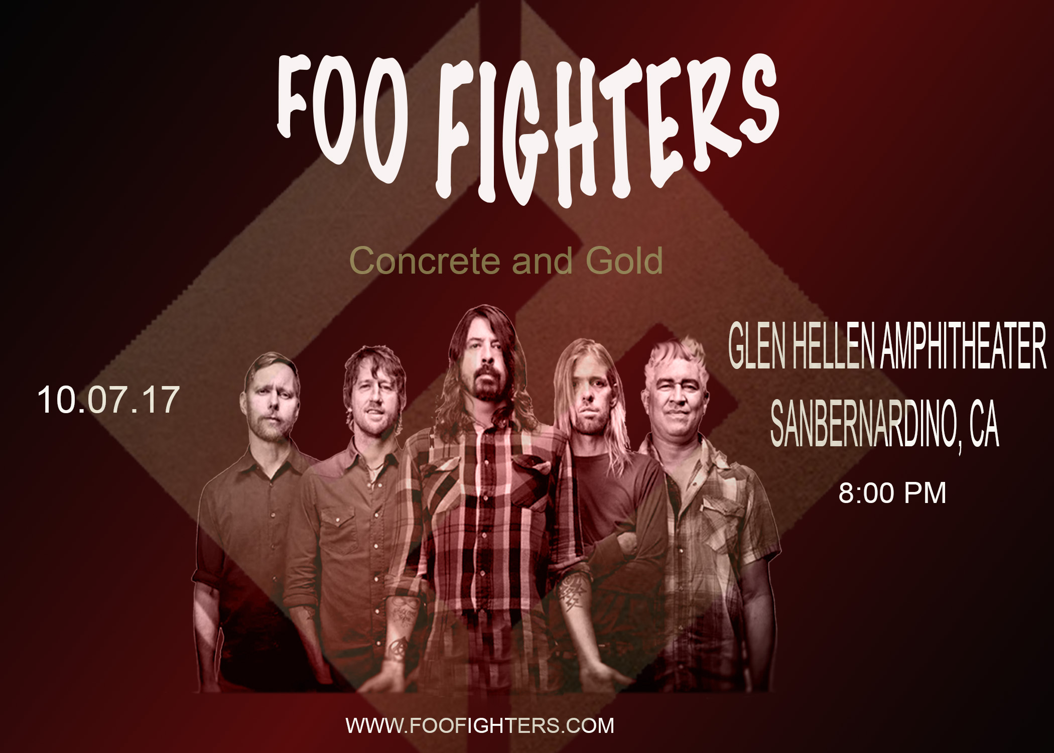Foo fighters post card