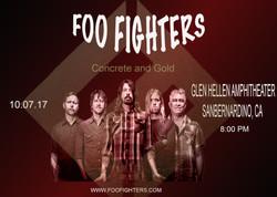 Foo fighters post card