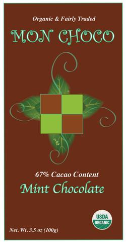 MONCHOCO chocolate bar package