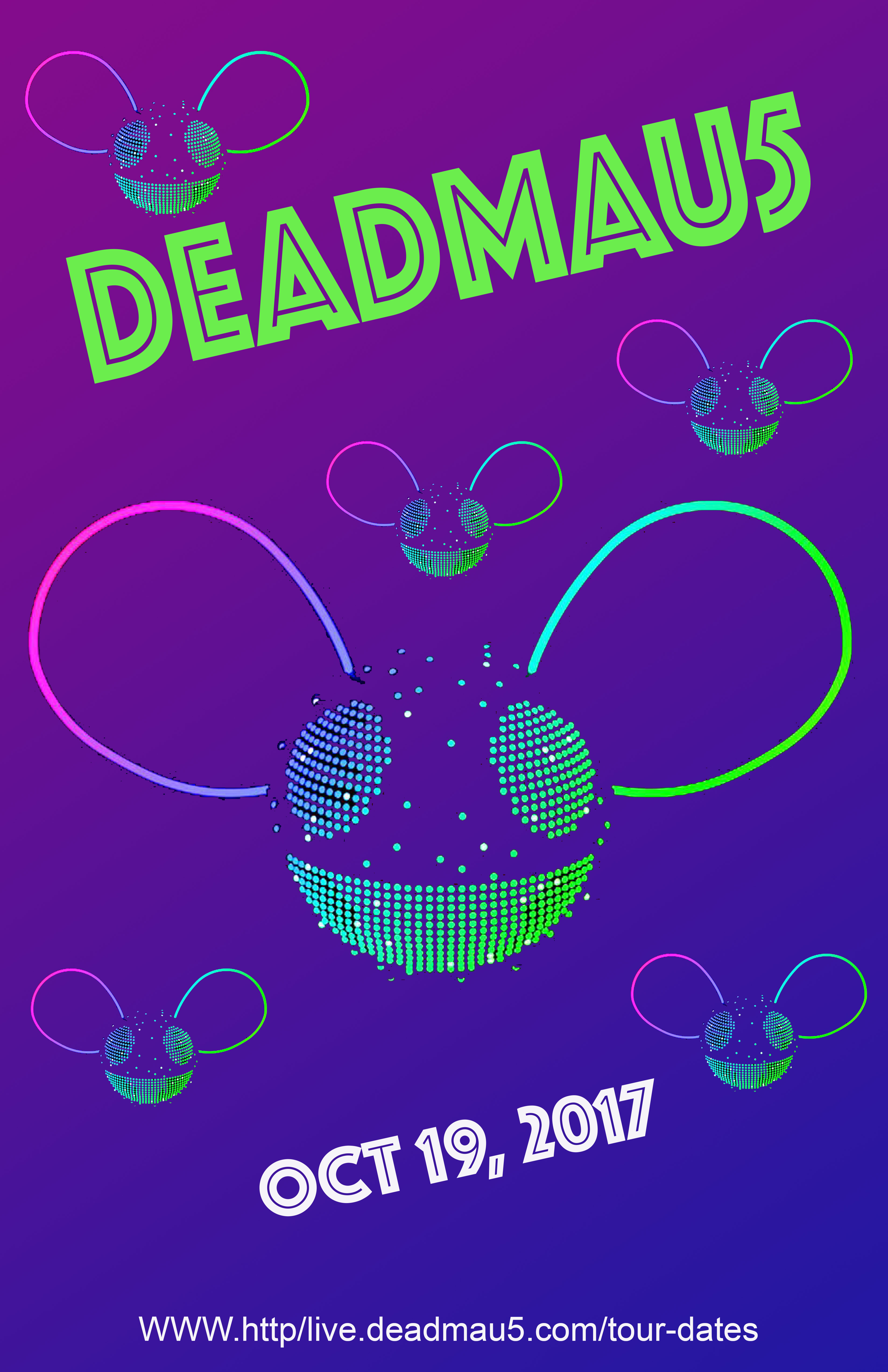 jennifer aknin art 606 DEADMAU5poster revamped flat