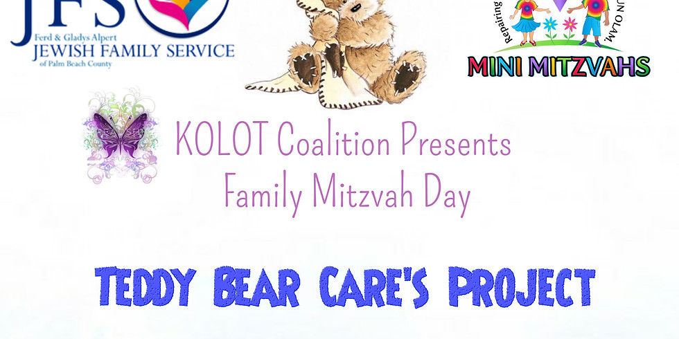 Teddy Bear Care's Project-Family Mitzvah Day