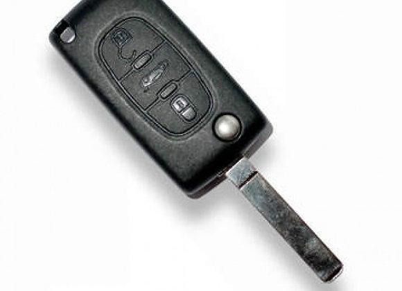 CITROEN, 3 кнопки, чип  PCF7941