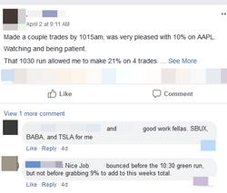 April 2 - 21% 4 trades
