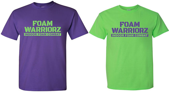 296944 Foam Warriorz (Purple&GreenShirts