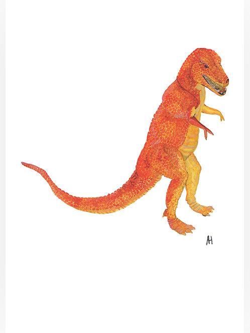 Orange dinosaur
