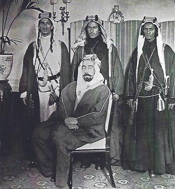 Abdullah und Bodyguards