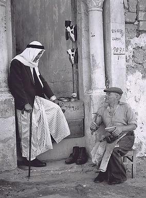 Jüdischer Schuster, Arabischer Kunde