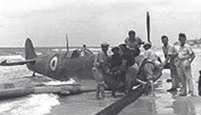 abgeschossene Spitfire