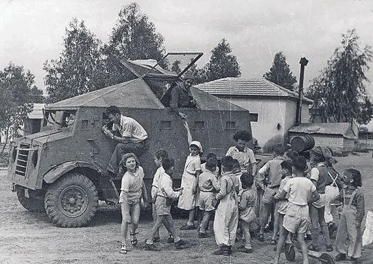 Haganah evakuiert Kinder