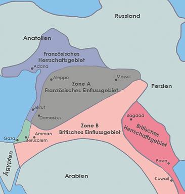 Heißt es im Sykes-Picot- Abkommen von 1916.