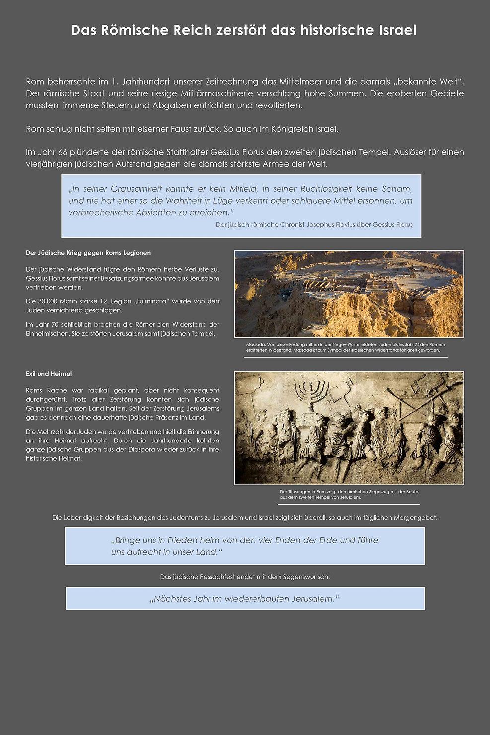 03 Das Römische Reich zerstört das historische Israel