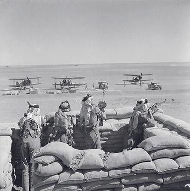Arabische Legion bewacht Brit WK1