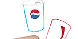 #466 Soft Drink and Hotdog
