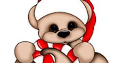 #902 Candy Cane Teddy