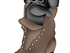 #1032 Raccoon N Boot
