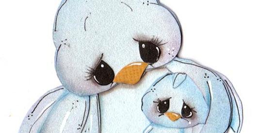#638 Mama and Baby Bird