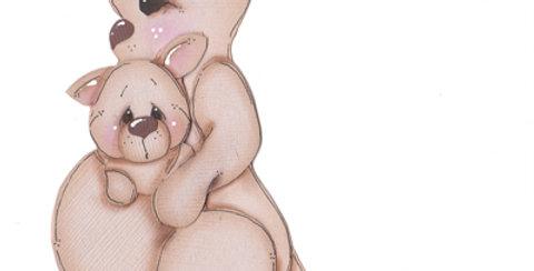 #421 Mama and Baby Kangaroo