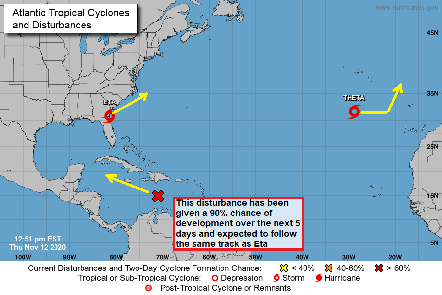 Forecast and Hurricane Tracker for 12 No