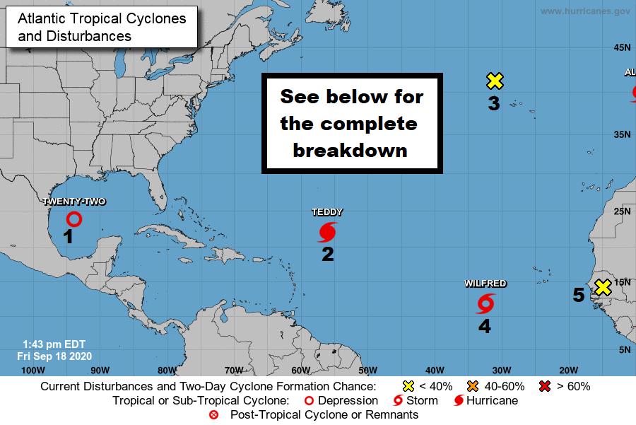 Forecast Map Hurricane Tracker 18 Septem